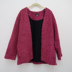 Picadilly Women's Pink Knit Open Front Cardigan